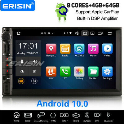 8-Core Android 8.0 double 2din Car Stereo GPS Player DAB+ WiFi DVR DVB-T TPMS 4G