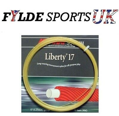ASHAWAY Liberty 17 1.25mm Squash String Set GOLD - Cheapest Price - FREE P&P!