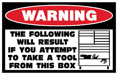 Funny Tool Box Toolbox Cnc Machine Machinist Mechanic Sticker Decal Drawer 171