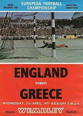 * ENGLAND v GREECE 1971 *