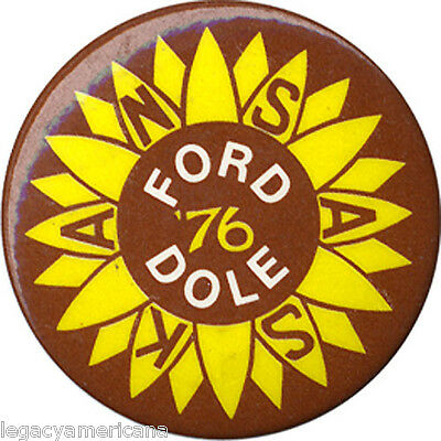 1976 Ford Dole Kansas Sunflower Campaign Button (2831)
