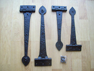 2 sizes Black Antique Wrought iron Heavy Duty Door Gate t-hinge Tee Hinges