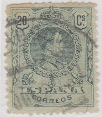 Stamp(SP53) 1909 Spain 20c Green ow334