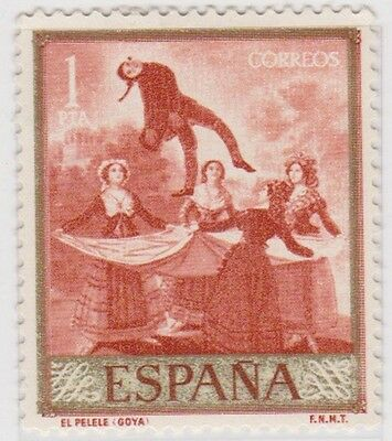 Stamp (SP231) 1958 Spain 1p Red ow1279