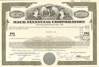 MACK TRUCK financial company stock certificate share