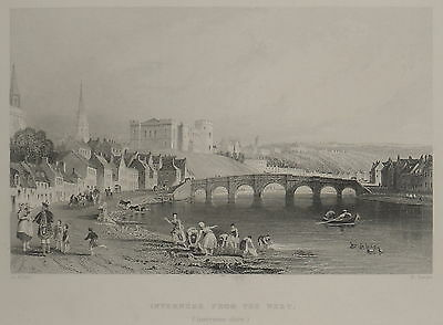 1842-Scotland-Inverness From The West-Original Vie-Scozia-Veduta