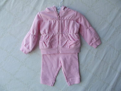 First Impressions Pink 2pc Long Sleeve Girl Hooded Sweatsuit 3-6 Mos NWT G82321