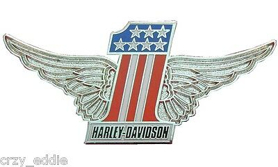 Harley Davidson Usa Number 1 Vest Pin With Wings * Patriotic American