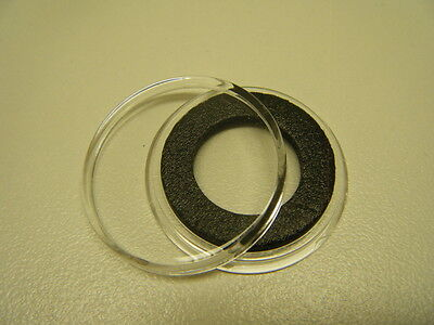 50 AIRTITE COIN CAPSULES W BLACK RINGS FOR $5 Gold , $10 Platinum , Others 16mm