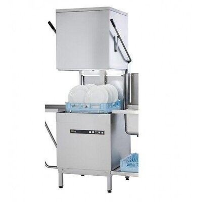 Hobart ECOMAX 602 Commercial Dishwasher Hood/Pass Through Direct from Hobart
