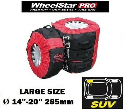 Large wheel tyre storage bags spare covers XL SIZE 14''-20'' 285mm set of 4