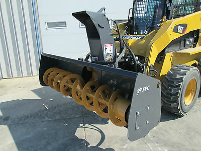 "Paladin FFC 72"" Skid Steer Loader Snow Blower Attachment - 1 Yr Warranty"