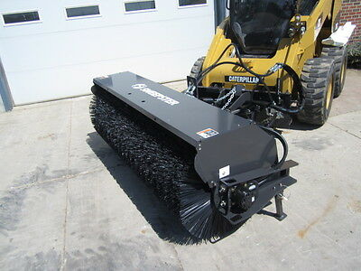 """Paladin Sweepster 72"""" Skid Steer Loader Hydraulic Angle Broom Attachment"""