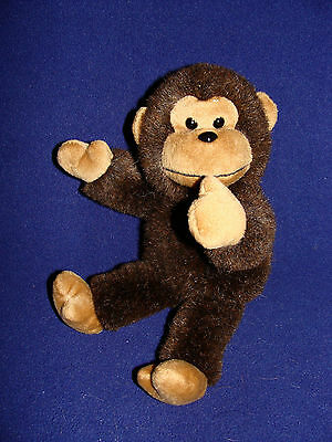 "9"" Russ BROWN MONKEY APE RARE Plush"