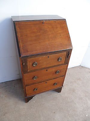 A Lovely Small Mahogany Edwardian Inlaid Bureaux