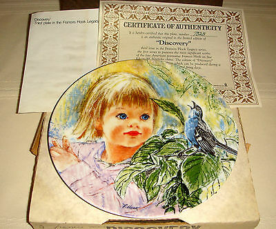 FRANCES HOOK Legacy Little Girl Playing & Hears Musical Sound DISCOVERY Plate