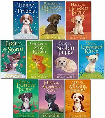 Holly Webb 10 books Collection Puppy and kitten Childrens Gift Set Sophy William