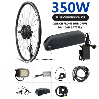 36V 350W 10Ah Electric Bike Bicycle Conversion Kit eBike 26'' Front Hub Motor AU