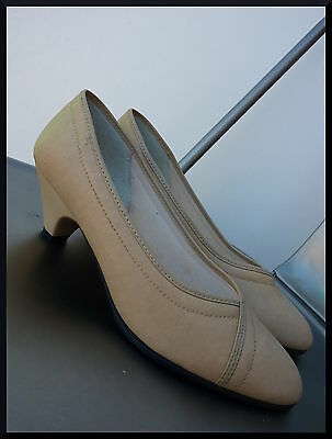 Escarpins Ballerine Vintage 80's Court shoes DeadStock NEUF made in france 37 38