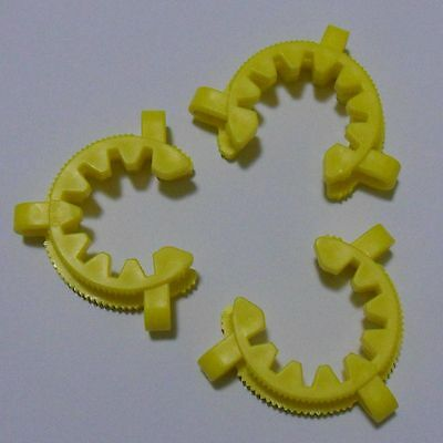 3 plastic Joint Clips/Keck Clamps  glass connectors 40#, New