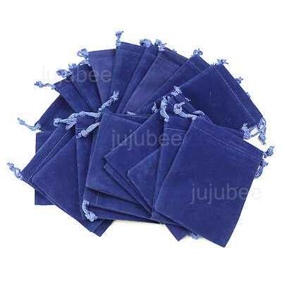 25pcs ROYAL BLUE 3x4 inch Jewelry Pouches Velveteen Gift Bags