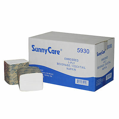 SunnyCare® Embossed 1-Ply Beverage / Cocktail Napkin  4000/Case