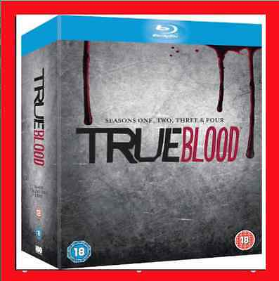 *NEW* True Blood: The Complete 1-4 Season (Blu-ray, 20-Disc Set) 1 2 3 4  SEALED