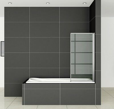 700x1400mm 1-Fold Folding Shower Bath Screen Door Panel Nextday Delivery FF70