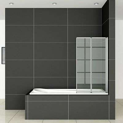 900x1400mm 2-Fold Folding Shower Bath Screen Door Panel Nextday Delivery FF90