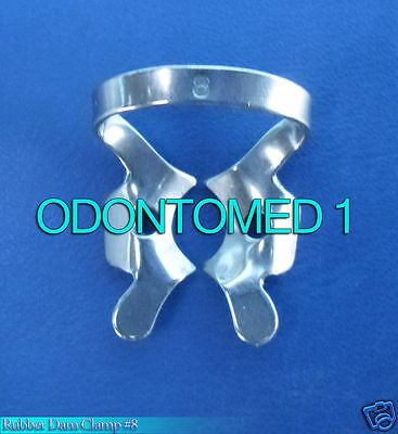 12 Endodontic Rubber Dam Clamp #8 Surgical Dental Instruments