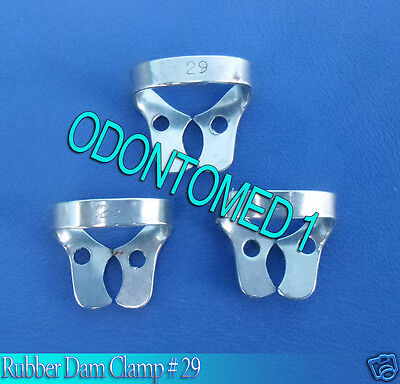 12 Endodontic Rubber Dam Clamp #29 Surgical Dental Instruments
