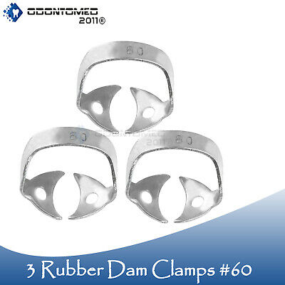 3 Endodontic Rubber Dam Clamp #60 Surgical Dental Instruments