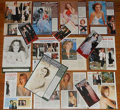 GILLIAN ANDERSON spanish clippings 35 photos sexy The X-Files TV Series mags