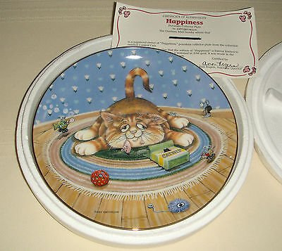 GARY PATTERSON Comical Cats Precious Can't Take It Anymore Kitty HAPPINESS Plate