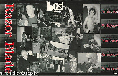 Poster : Music : Bush - Razor Blade Collage -  Free Shipping ! #  #6166   Lc17 N