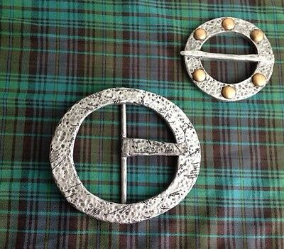 """BRAVE""King Fergus (Merida's Father) Costume Belt Buckle & Broach Cosplay Combo"