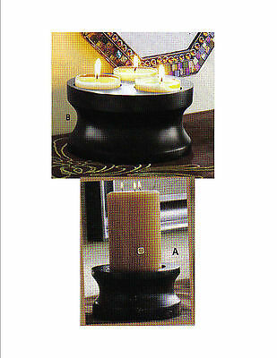 PARTYLITE INVERTING CANDLE TEALIGHT PILLAR HOLDER P90181