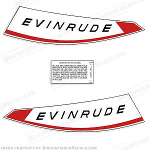 Evinrude 1959 18 hp Fastwin Decal Kit Discontinued Decal Reproductions in Stock
