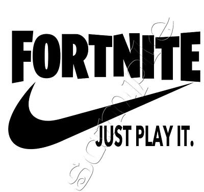 IRON ON TRANSFER FORTNITE FORT NITE JUST PLAY IT 15x9cm