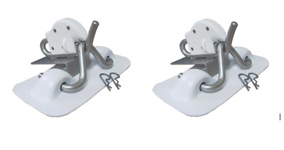 WHITE PVC SNAP DAVIT KIT STAINLESS STEEL Per Pair Inflatable Boat Davits