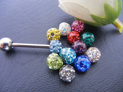 30pcs Balls 1.6x6mm Body Jewelry Replacement for tongue Ring Bar Barbells Smooth