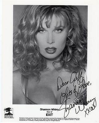 SHANNON WHIRRY Signed 8 by 10 Photo EXIT, PLAYBACK, ANIMAL INSTINCTS