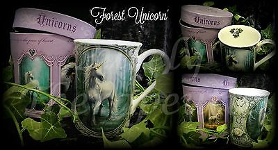 ~FOREST UNICORN COFFEE MUG-BOXED~Anne Stokes~Collectible~Mythical~Cup~Fantasy