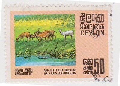 (CEY238) 1970 Ceylon 50c Multicolour Spotted Deer ow563