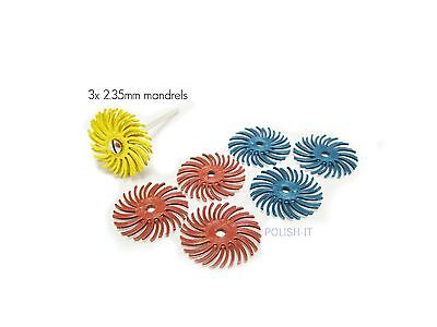 3M Scotchbrite Radial Bristle Discs 25mm Starter Set- 2.35 - Polishing/Finishing