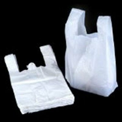 White Vest Style Plastic Carrier Bags Retail Carrier Bags Supermarket All Sizes