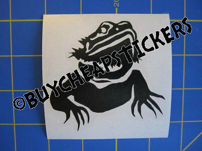 Bearded Dragon Decal - Sticker 3X3 Any Color