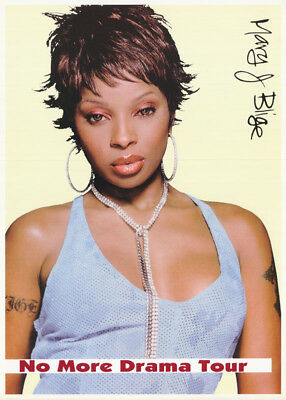 Poster :music :  Mary J. Blige - No More Drama Tour - Free Shipping ! Rc20 M