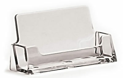 Business Card Holders - Clear Acrylic Counter Display Stands & Retail Dispensers