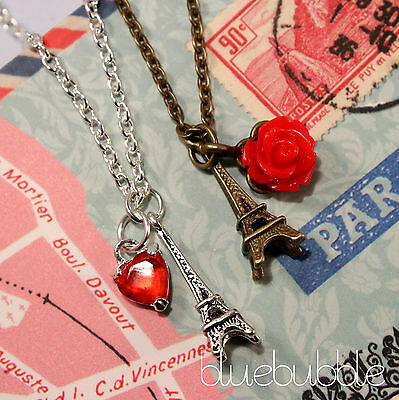 Alloy RED /& BLACK HEART PENDANT NECKLACE 42cm Chain Valentine Love Shabby Chic